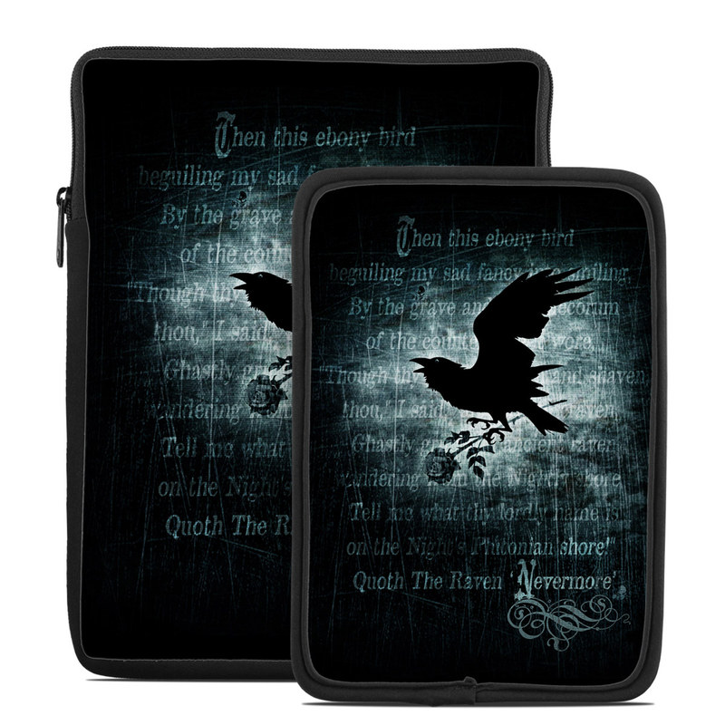 Tablet Sleeve design of Bird, Text, Wing, Graphic design, Darkness, Font, Illustration, Graphics with black, white, blue colors