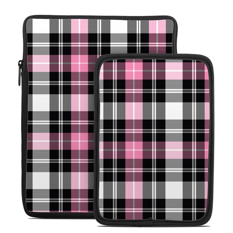 Pink Plaid Tablet Sleeve