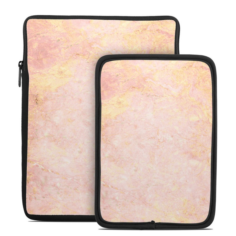 Tablet Sleeve design of Pink, Peach, Wallpaper, Pattern with pink, yellow, orange colors