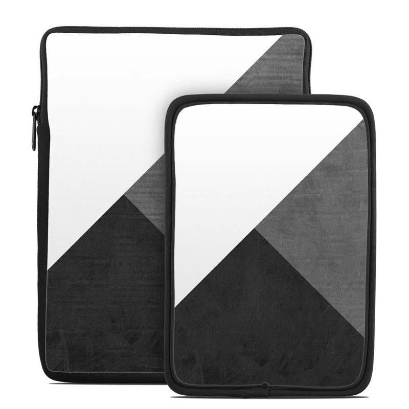 Tablet Sleeve design of Black, White, Black-and-white, Line, Grey, Architecture, Monochrome, Triangle, Monochrome photography, Pattern with white, black, gray colors