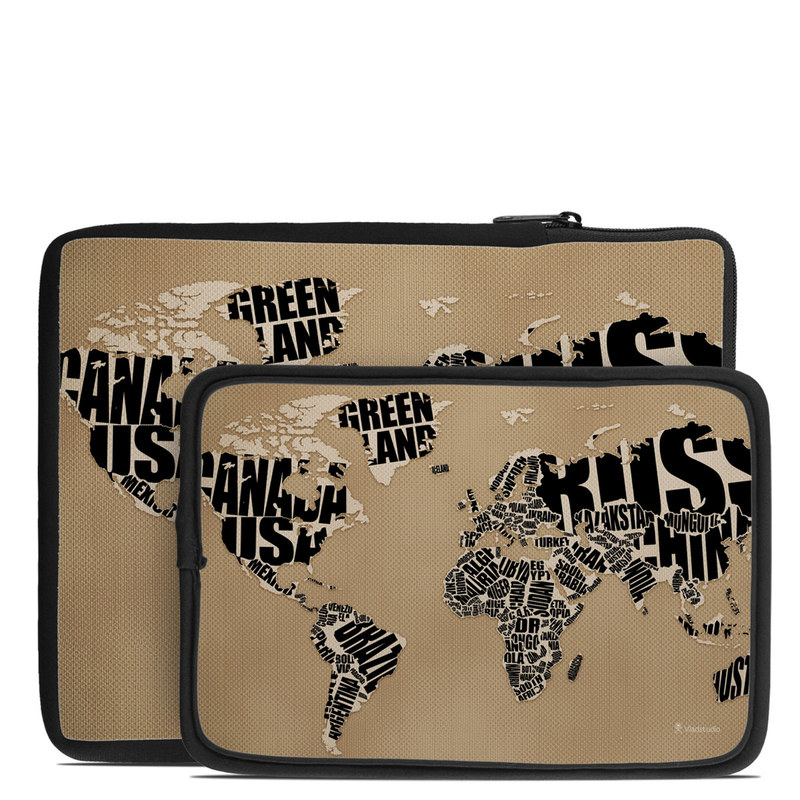 Type Map Tablet Sleeve